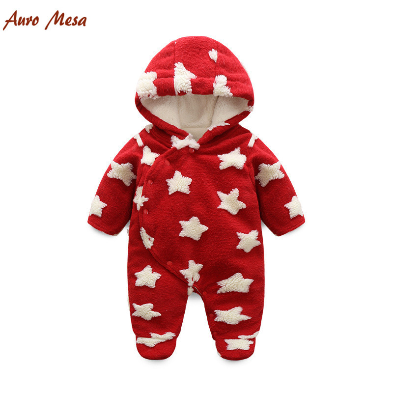 New Thick warm Infant baby rompers Winter clothes Newborn Baby Boy Girl Romper Jumpsuit Hooded Kid Outerwear Baby Snowsuit winter baby rompers organic cotton baby hooded snowsuit jumpsuit long sleeve thick warm baby girls boy romper newborn clothing