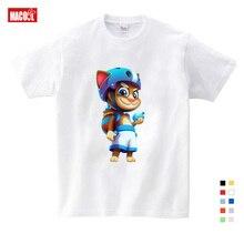 2019 Cartoon Printed Children Summer Cotton T-shirt Talking Cat Game Boy/girl Tops Breathable Comfort TShirt Funny