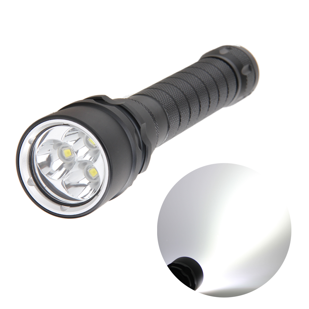 High Brightness 3*XM-L L2 LED 9000Lm Aluminum Alloy Diving Flashlight Underwater 80m Professional Waterproof Diving Flashlight high power led 6l2 professional diving flashlight magnetic control electrodeless dimming light waterproof flashlight