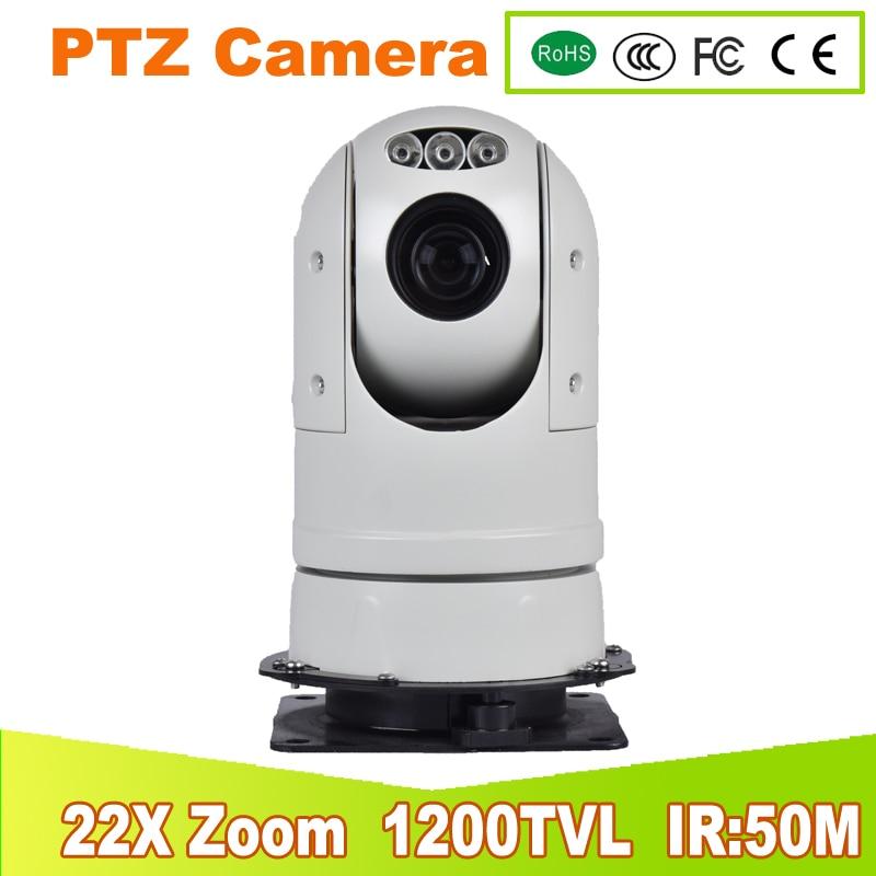 YUNSYE Police high speed PTZ camera 22X zoom INFRAR Wiper MINI IP PTZ Camera ONVIF security video ptz speed dome1200TVL MINI PTZ