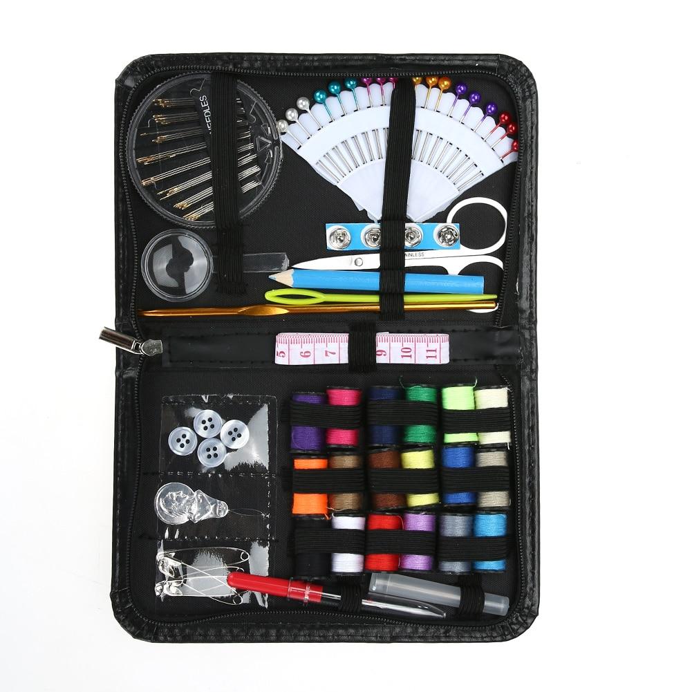 91Pcs Travel Home Sewing Kit Case Needle Thread Set Handcraft  Needlework Set
