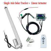 1KW Single Axis Solar Tracker System Linear Actuator+Controller with Light Senor