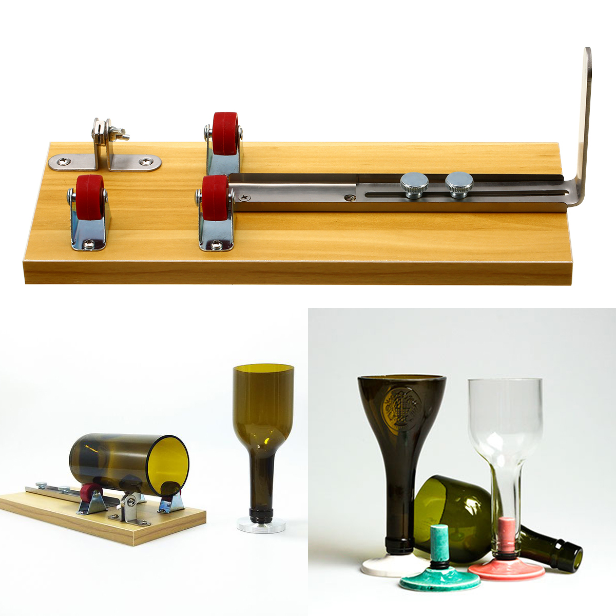 Safety Glass Bottles Cutter Machine Cutting Tool For Wine Beer Bottles Multi-function Bottle Opener DIY Tools Mayitr bottle cutter glass bottle cutter tool cutter glass machine for wine beer glass cutting tools multi function bottle opener diy