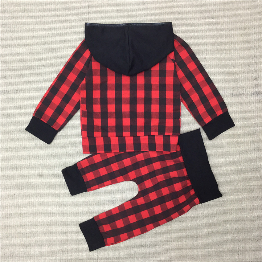 COSPOT-Baby-Boys-Girls-Christmas-Clothing-Set-Kids-Autumn-2Pcs-Suit-HoodiesPants-Girl-Red-Plaid-Xmas-Suit-2017-New-Arrival-D42-1