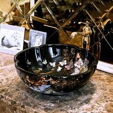 Cuarto de baño guardarropa estilo antiguo, Europeo arte lavabo encimera de cerámica lavabo baño vintage lavabo de porcelana