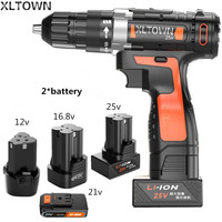 Xltown New Lithium Electric Drill 12 16 8 21 25v Rechargeable Lithium Battery Electric Screwdriver With