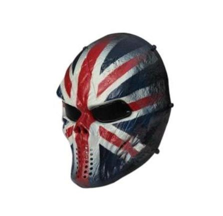 SPORTSHUB Cool Skeleton Zombie Skull Warrior Paintball Mask Airsoft - Laskmine - Foto 3