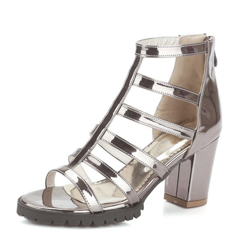 Silver Gladiator Sandals Summer Sexy High Heels Beach Platform Shoes Woman Slip On Pumps Casual  Women Shoes Size 35-43 XWZ3370 phyanic summer gladiator sandals beach platform shoes woman wedges sandals slip on flats creepers casual women shoes phy3337