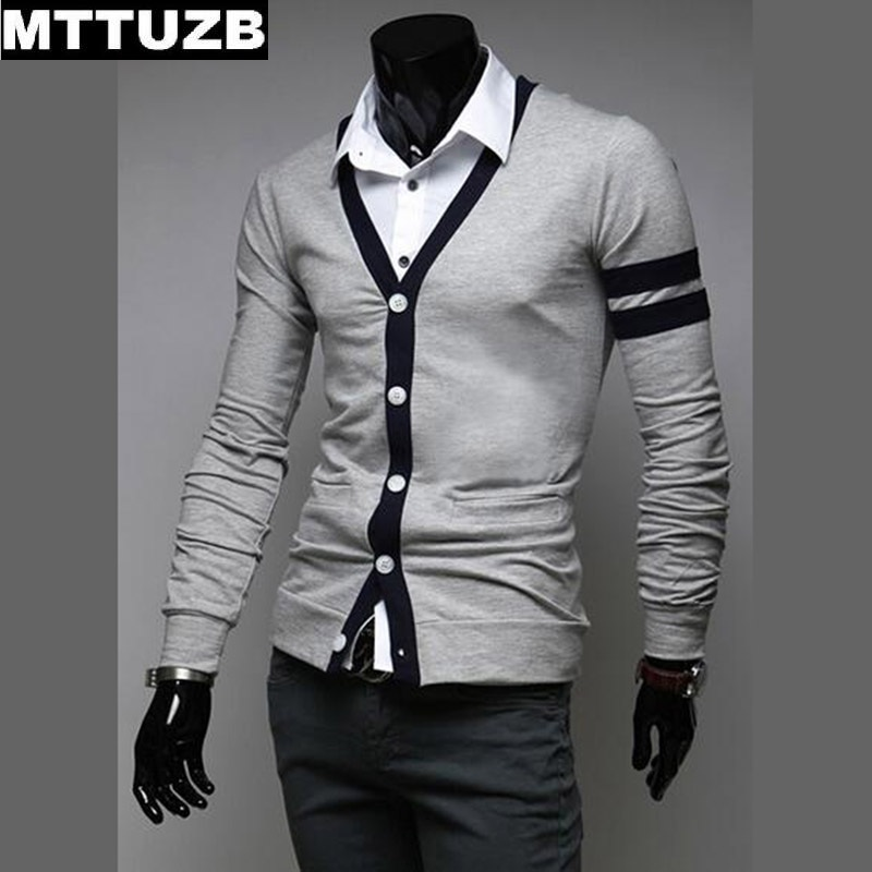 Casual men V neck slim knitwear man spring autumn outwear male sweaters men s cardigan clothes