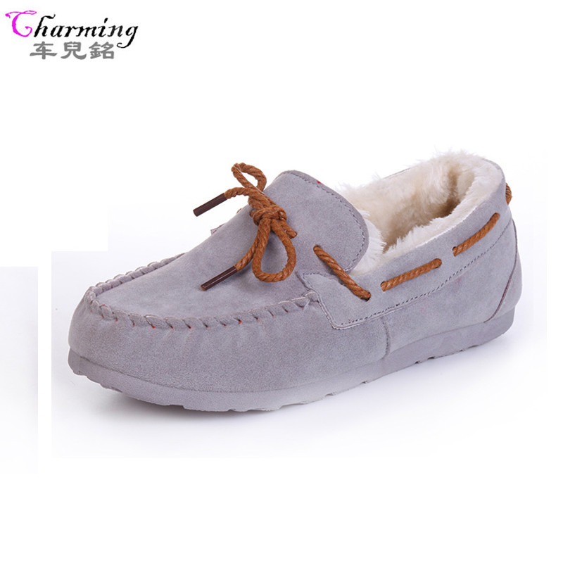 Aliexpress.com  Buy 2016 Winter Women Flats Warm Fur Winter Boots Slip On Loafers Flat ...