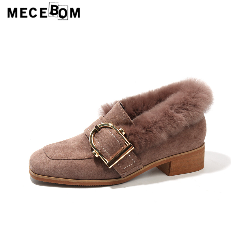Women loafers new fashion metal buckle slip-on shoes autumn faux fur shoes flats boat shoes sapato feminino size 35-40 2975w jingkubu 2017 autumn winter women ballet flats simple sewing warm fur comfort cotton shoes woman loafers slip on size 35 40 w329