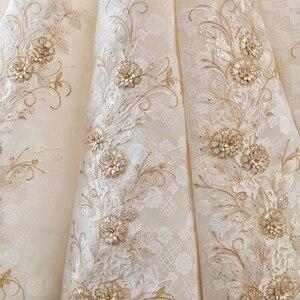 Image 5 - ใหม่หรูหราคอเรือแขนสั้น Appliques ประดับด้วยลูกปัดชุดแต่งงานลูกไม้สำหรับเจ้าสาว Gowns แต่งงานคู่แต่งงาน Vestido De Noiva