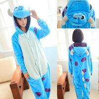 Sulley Sullivan Onesies Flannel Hoodie Pajamas Adult Blue Sulley Onesies Monster University Cosplay Sulley Pajamas Costume