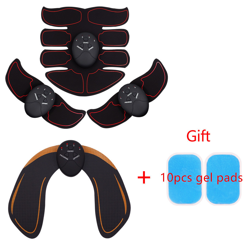 Body Slimming Shaper Abdominal Buttocks Wireless Electric Muscle Stimulator Massager Hip Trainer Hips Exercise Face Care(China)