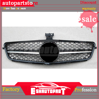 Front grill With emblem Suitable for Mercedes Benz C Class W204 Grille One Chrome c180 c200 c230 c250 c280 c300 c350 c63 style
