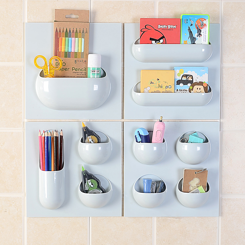 Creative Closet Organizer Storage Shelf Wall Mounted Kitchen Rack Space Saving Decorative Shelves Cabinet Holders Kitchen Goods