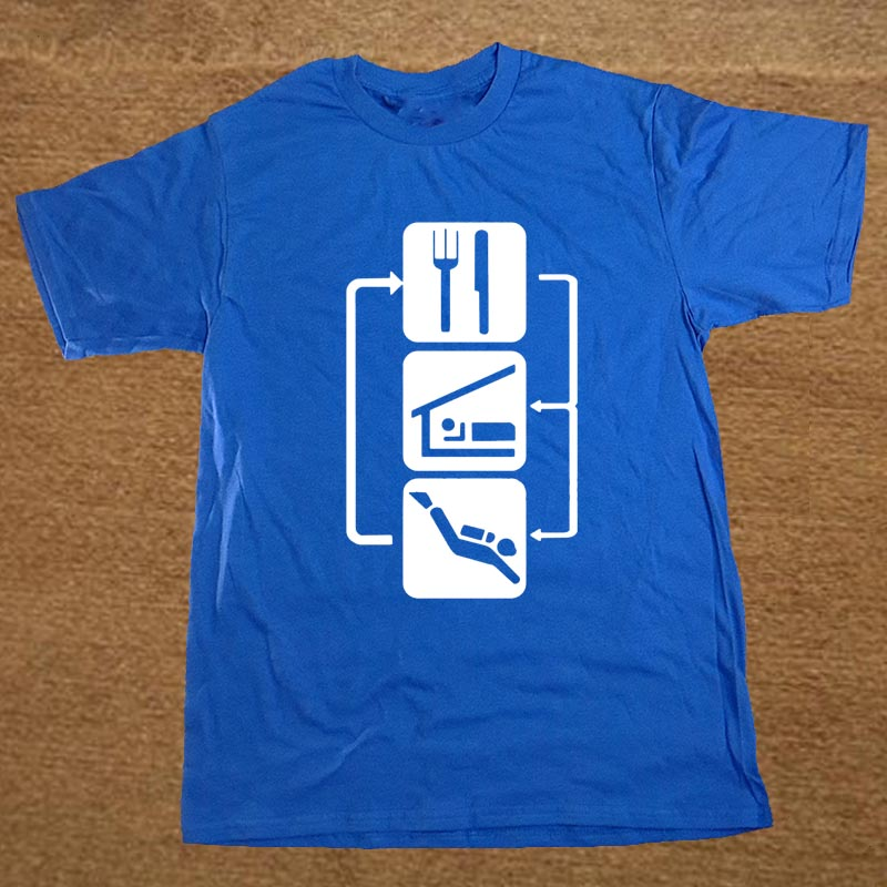 Eat Sleep Scuba Dive T-Shirts Men Custom 100% Cotton Short Sleeve Tee Shirt For Man Adult Tshirt Clothing Tops