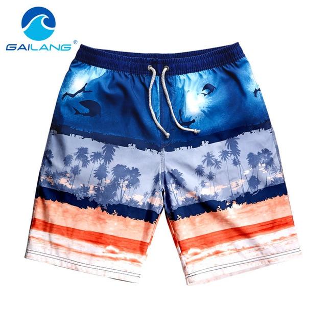 Gailang Brand Men Beach Shorts Bermuda Fashion Mens Board Shorts Trunks Casual Quick Drying Boardshorts Men's Swimwear Swimsuits