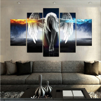 Canvas Printings Angeles Girls Anime Demons Painting Wall Art Home Decoration Poster Canvas Unframed Free Shipping