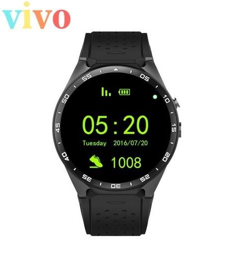DHL Бесплатная доставка Smart Watch KW88 3 Г WI-FI GPS Android 5.1 OS MTK6580 ПРОЦЕССОР 1.39 дюймов Экран 2.0MP камеры Smartwatch 10 шт./лот