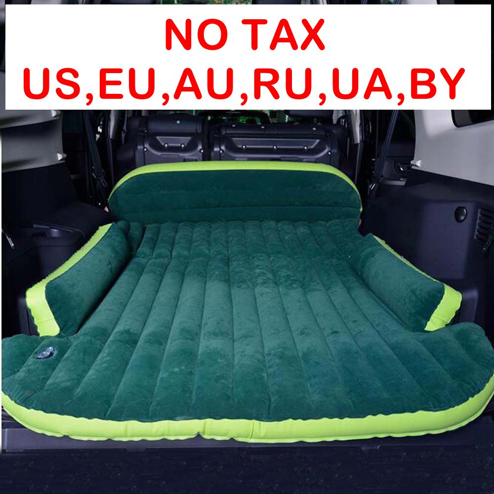Mobile Inflation Travel Thicker Back Seat Cushion Air Bed for SUV Car Inflatable Sleeping Air Mattress Intex Camping Pad Mats car camping inflatable mattress seat travel bed air bed cushion travel beds sofa with pump moisture proof pad for suv