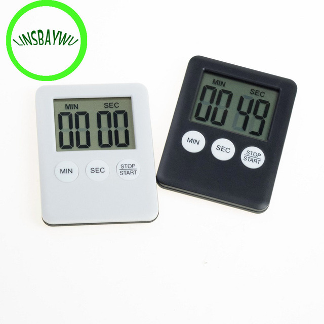 LINSBAYWU Large LCD Digital Kitchen Cooking Timer Count Down Up Clock Loud  Alarm Magnetic