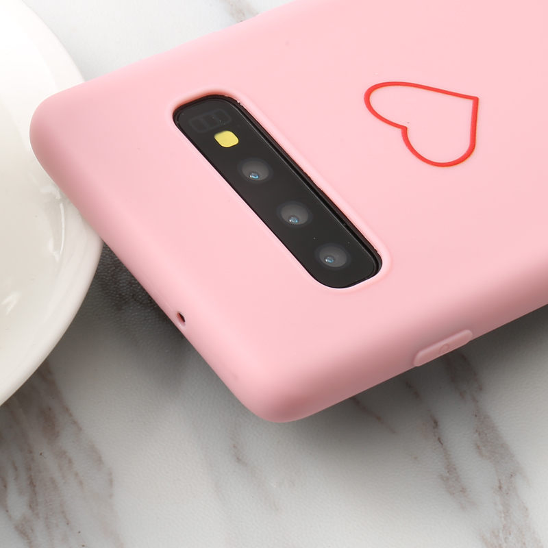Love Heart Print SOFT Back Case For Samsung Galaxy A10 A30 A40 A50 A70 A3 A5 A6 A7 A8 2016 2017 A9 Plus 2018 A8s A9s A6S C10 C9 in Fitted Cases from Cellphones Telecommunications