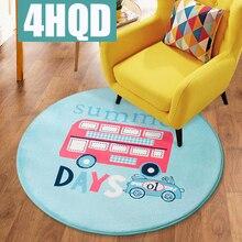Round cartoon carpet children bedroom full floor living room coffee table bedside computer chair cushion