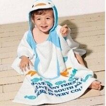 100% Cotton baby bath towel hooded poncho kids beach towel wear robe child bathrobes newborn infant sleepwear cloak cape