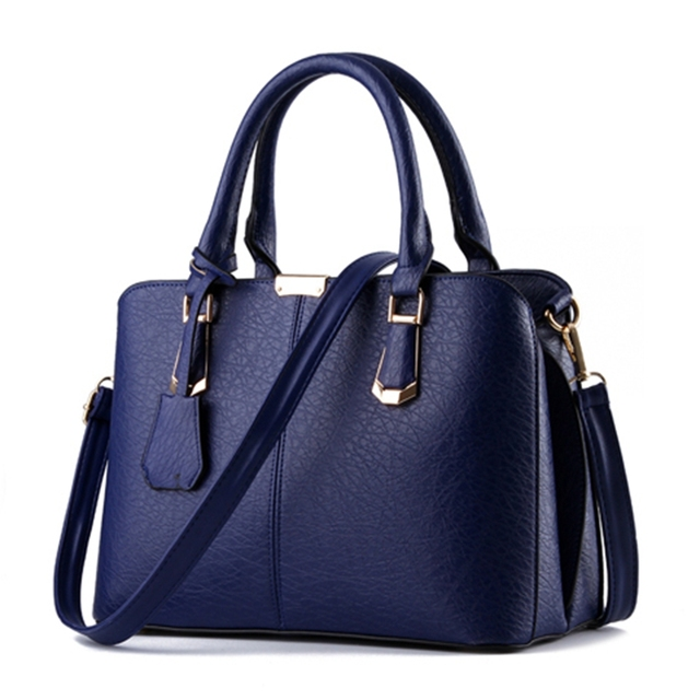 275844e72836 Famous Designer Brand Bag Women Leather Handbags 2018 Fashion Luxury Ladies  Hand Bag Purse Fashion Shoulder Bags Bolsa Sac blue