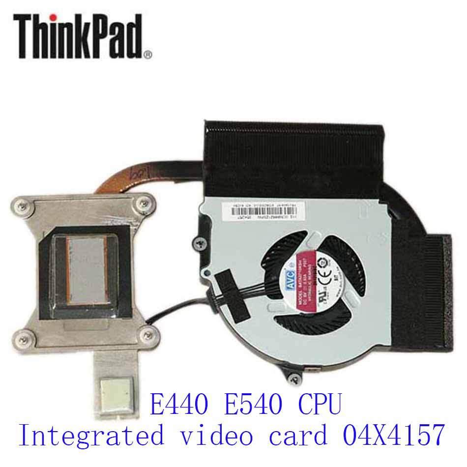 New Original Cooling Fan For Lenovo ThinkPad E440 E540CPU Integrated video card 04X4157 Cooler Radiator Cooling Fan Heatsink genuine for lenovo thinkpad e440 e540 laptop cpu cooling fan heatsink 04x4157
