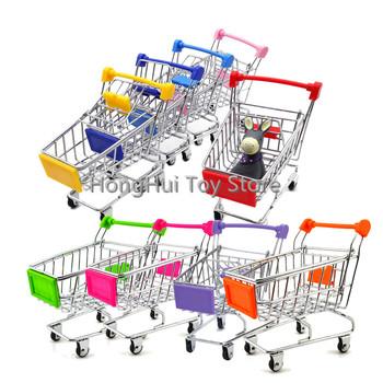 Mini koszyk Supermarket Handcart tryb przechowywania zabawka pulpit może tanie i dobre opinie SMTG12 Shopping Cart Toys 5-7 lat 2-4 lat Chiny certyfikat (3C)