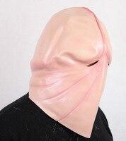 Latex Máscara Cabeça do Pênis realista Pau Máscara Cosplay Prop Engraçado Interessante Fantasia Partido Make up Penis Partido Máscara de terror