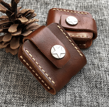 Genuine Leather Cigarette Lighter Case For Smoker Smoke Tools First Layer Cowhide Handmade Wear Resistant Box LFB400