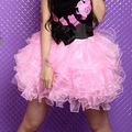 free shipping Layered Ruffle Puffy Petticoat Tutu Mini Skirt  7 colors S/M L/XL