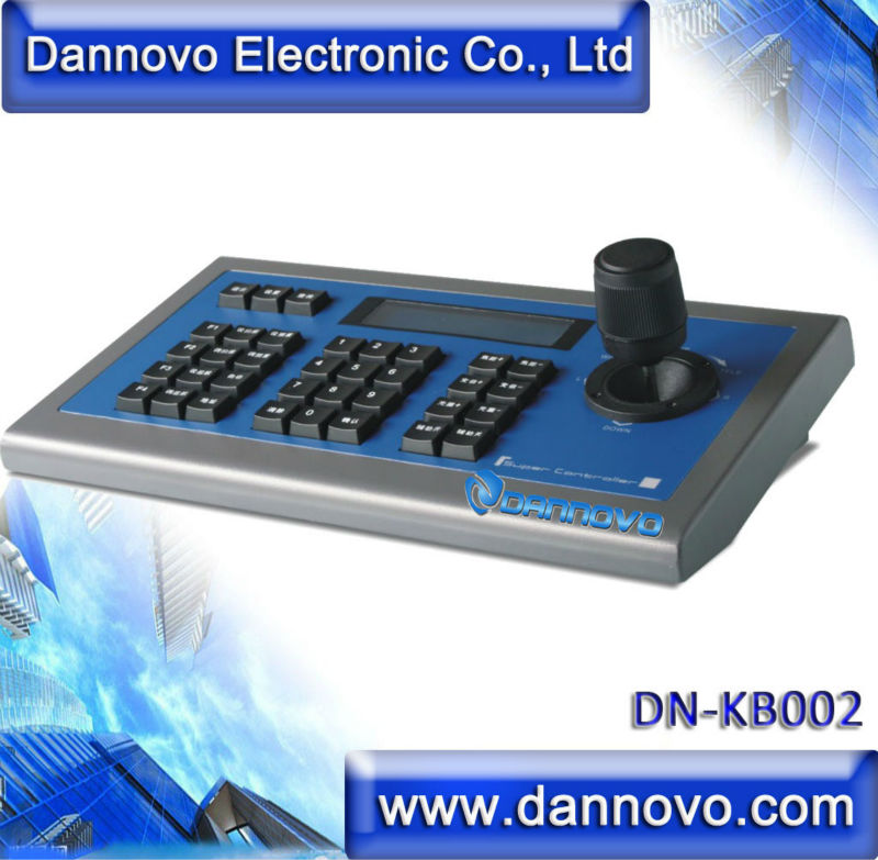 DANNOVO 3D PTZ Keyboard Controller LCD display For CCTV PTZ Camera and Video Conference Camera,RS485,RS422,RS232,Pelco-P/D,VISCA top dvi usb3 0 3 3mp ptz video conference camera hd 1 2 8 cmos 20x zoom visca pelco for professional education training system