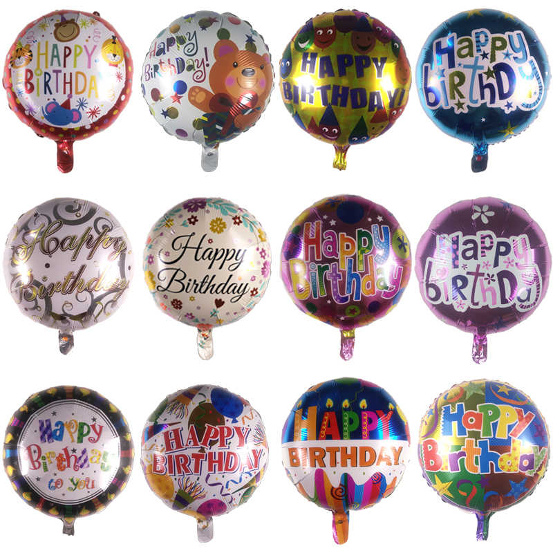Birthday Party Balloon Decoration 18 Inch Animal Cake Letter Foil Balloons Happy Birthday Party Balloons Globos KIDS Toys Gifts