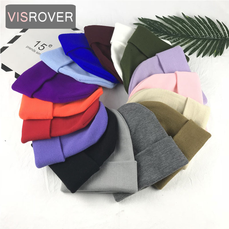 Women's Skullies & Beanies Brave Visrover 6 Colors Unsex Autumn Winter Solid Color Real Cashmere Beanies Best Matched New Cashmere Man Woman Warm Skullies Strengthening Sinews And Bones Apparel Accessories
