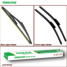 Front And Rear Wiper Blades For Citroen C3 DS3 2009 -2013 Rubber Windscreen Windshield Wipers Auto Car Accessories 24+16+12