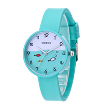 Fashion Fish Pattern Watches Women Silicone Jelly Quartz Watch Analog Childrens Casual Sports Wristwatch Relogio Feminino Clock