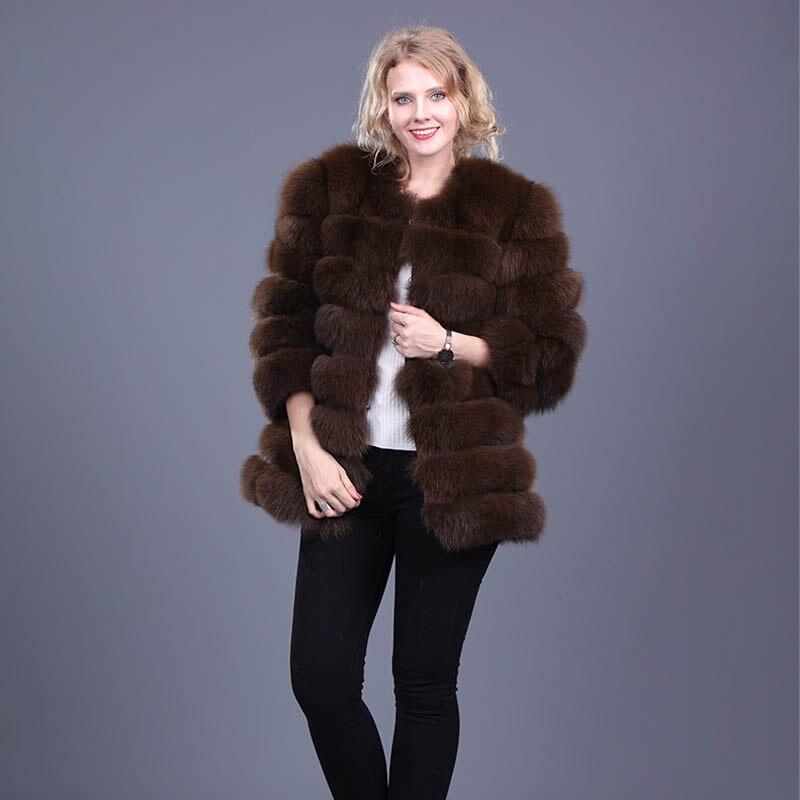 corto chaqueta mujeres de Fox abrigo Caliente piel de invierno qwtnzWOxP