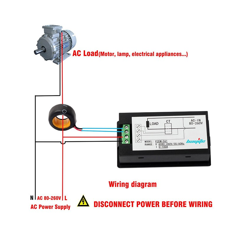 Digital Ac Ammeter Circuit Diagram 2005 Ford Escape Engine Quality Voltage Meters 100a 80 260v Power Energy Voltmeter Watt Current Amps Volt Meter Lcd Panel Monitor In From Tools On