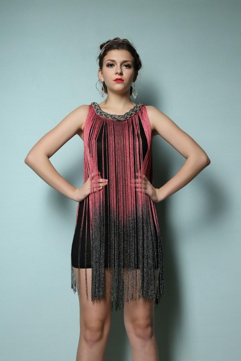 Summer Women Sexy Fringe Party Dress Flapper Art Deco Great Gatsby ...