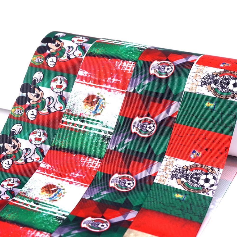 50 Yard Mexico Ribbon Printed Grosgrain Ribbon 30392