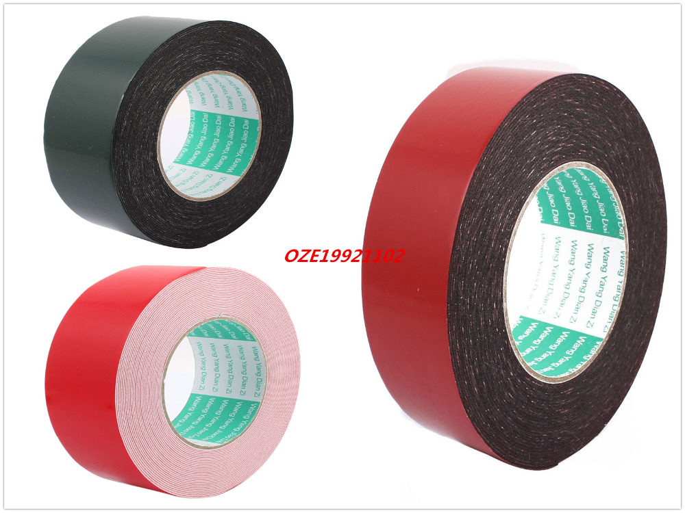 1PCS 50mm x 1mm Dual Sided Self Adhesive Sponge Foam Tape 10M Length 10m 40mm x 1mm dual side adhesive shockproof sponge foam tape red white