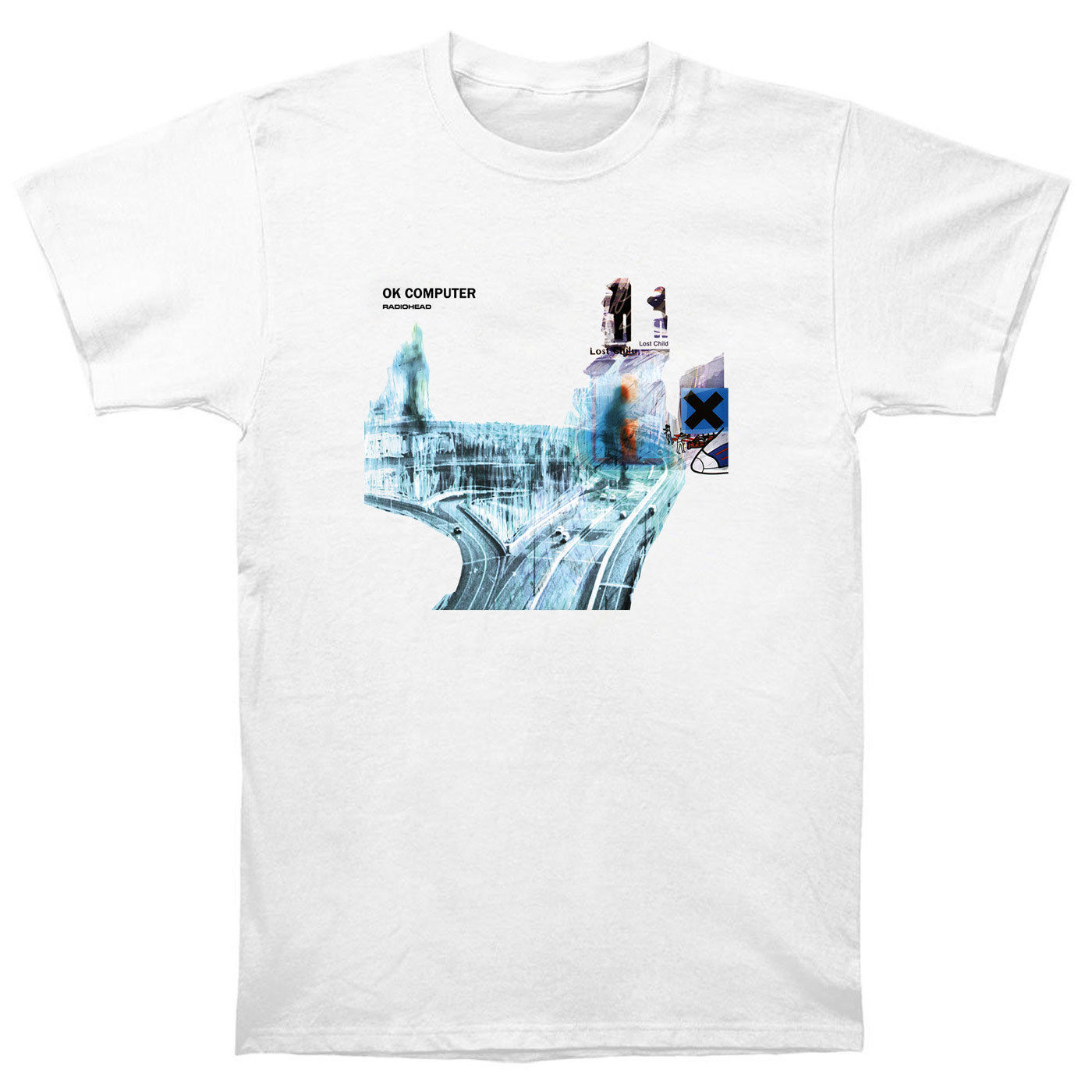 Radiohead Ok Computer T Shirt Cd Lp Vinyl Poster In Rainbows Thom Yorke Druck T-Shirt Männer Sommer Stil Mode Top t
