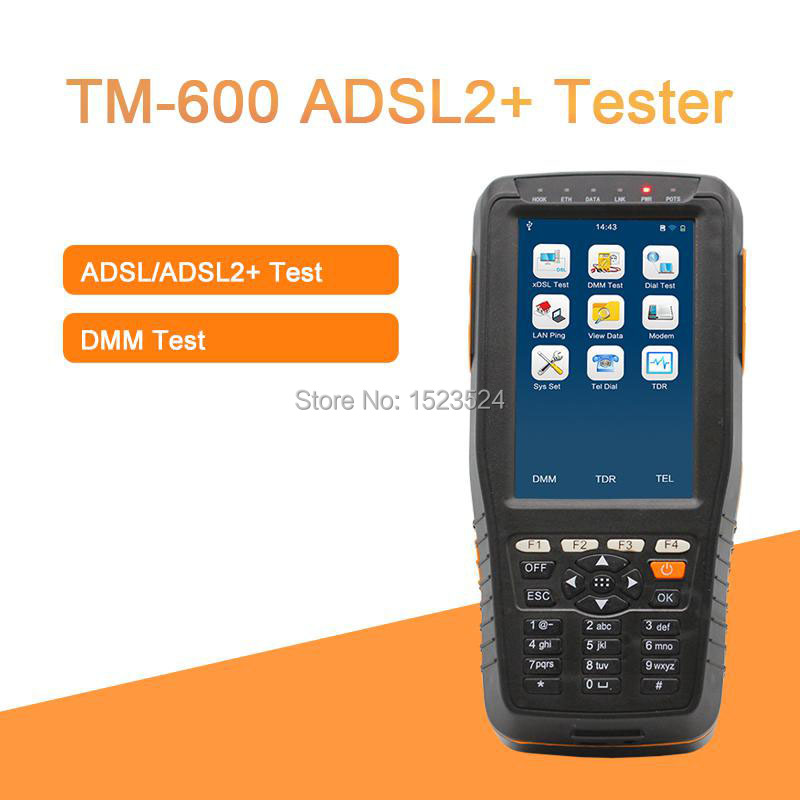 DHL Free Shipping TM-600  Multi-functional ADSL2+ Tester / ADSL Tester / ADSL Installation and Maintenance ToolsDHL Free Shipping TM-600  Multi-functional ADSL2+ Tester / ADSL Tester / ADSL Installation and Maintenance Tools