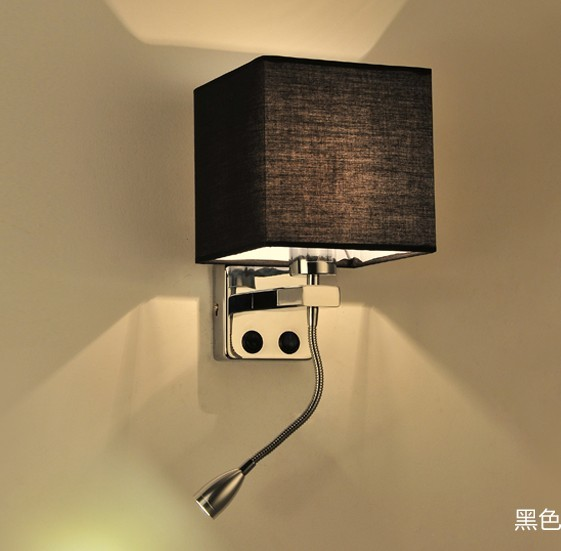 Simple Creative Fabric Wall Sconce Band Switch Modern LED Wall Light ...