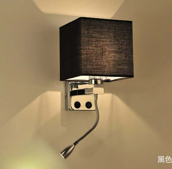 online shop simple creative fabric wall sconce band switch modern
