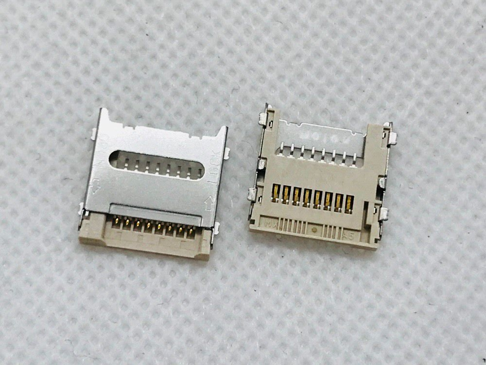 MOLEX ALPS 3in1 6/8PIN Flip Bar PC Computer Laptop Panel Tablet Old Machine Micro <font><b>Dual</b></font> <font><b>SIM</b></font> SD TF Card Connector <font><b>Slot</b></font> Tray PCB FP image